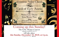 "Greenbrier Valley Chorale's ""Carols of Early America"""